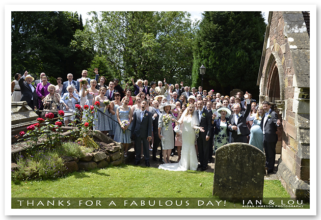Ian and Lou, Wedding Photographs, St Peter's Pedmore, Dunsley Hall, Kinver