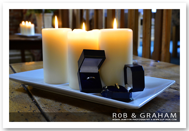 Rob and Graham's wedding photographs, Dining Rooms, Oswestry